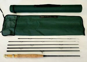 """*EXC* Cabela's Stowaway Fly Rod Length 7'6"""" - 4 wt. Travel  5pc Case EXTRA TIP"""