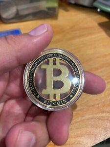 Bitcoin Coin Token in capsule