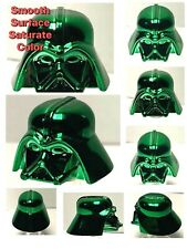 LEGO DARTH VADER HELMET CHROME DARK GREEN GENUINE CUSTOM bestQUALITY MONOCHROME
