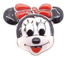 Zuni Handmade Sterling Silver Multi-Stone Inlay Minnie Mouse Ring 9.5 - Don Dewa