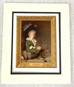 1914 Antique Print Pears Soap Original Advert Bubbles Sir John Millais Painting