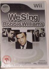 We Sing Robbie Williams Wii CHANT KARAOKE Solus Game Brand New & Sealed UK