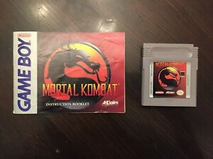 Mortal Kombat Gameboy, with manual, tested, authentic