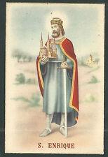 postal antigua de San Enrique andachtsbild santino holy card santini