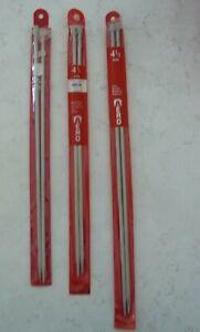 Aero Knitting needles, size 4.50 mm Metal Size 7 -  30cm & 35cm Lengths