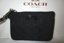 COACH signature black small wristlet F51775 new nwt