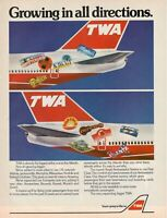 1974 Original Advertising' Twa American Airlines Company Aerial Directions