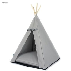 Dog teepee with non-slip base - Beige, Grey, Black pillow dog bed, cat tent
