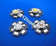 5W 4-chips High Power red/green/Blue/Royal blue/yellow/660nm/UV 395nm LED /W PCB