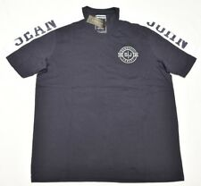 Sean John T-Shirt Men's Size L Legacy Pieced Logo Graphic V-Neck Tee Navy N908