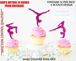 GYMNASTICS GYMNAST Cupcake Toppers x 12 per pack