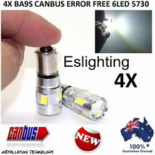 4 X BA9S BAYONET CANBUS 5730 LED WHITE INTERIOR DOME MAP CAR UTE 4WD LIGHT BULB