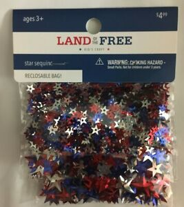 Land of the Free STAR SEQUINS Red,Silver & Blue~4th of July~Kids Craft~PATRIOTIC