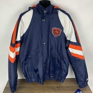 Chicago Bears NFL Starter Coat Jacket Men's Large NEW WITH TAGS Blue Stitched