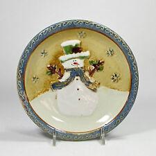 """St. Nicholas Square FOREST FRIENDS 6.5"""" Appetizer Plate(s) Snowman Scarf Hat"""