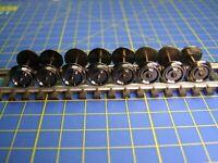 Essieux JOUEF HO acier bruni brillant 1 coté isolé Ø 11,4 mm entraxe 25,4 mm