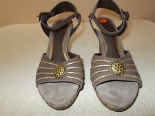 Diega di Lucca Womens Size 11 Cork Wedge Sandals Leather Made In Brazil