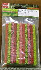 BUSCH HO scale ~ 'FLOWERING HEDGES', SMALL ~ MODEL TRAIN accessory # 7152