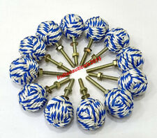 Nautical Jute Rope Antique Door Knob Set of 12 Handle Drawer Pulls Boat knobs