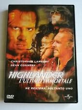 HIGHLANDER L'ULTIMO IMMORTALE DVD Sean Connery Christopher Lambert
