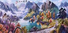 ORIGINAL ASIAN FINE ART CHINESE SANSUI PAINTING-Mountains&Landscape