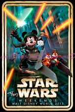 Artist Autographed Official Disney Star Wars Weekends 2013 Exclusive Logo Poster