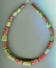 African Trade beads Vintage Venetian glass beads nice old brown grren eye beads