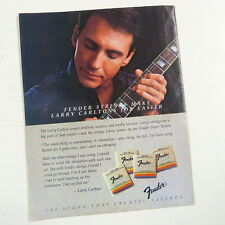 retro magazine advert 1984 FENDER STRINGS - LARRY CARLTON