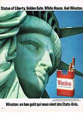 PUBLICITE  1972   WINSTON   cigarettes