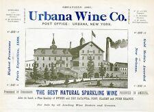 URBANA NEW YORK WINE COMPANY ADVERTISEMENT BEST NATURAL SPARKLING WINE BRANDY