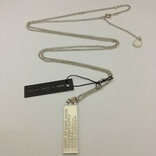 Marc by MMJ 4 Colors Letters Tag Pendant Long Necklace #n634x Silver N6342