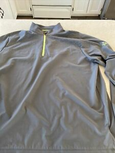 Adidas Golf Gray Pullover 1/4 ZIP Jacket Top Size XL
