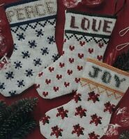 1994 Counted Cross Stitch Pattern Fancy Little Stockings Christmas Ornament 6056