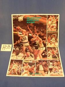 H08 Vintage 86-87 Boston Celtics In Action 1986 1987 Globe Poster Larry Bird