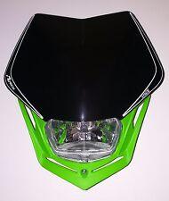 Mascherina Faro Anteriore Moto Rtech Headlight V-FACE Verde - Nero Universale
