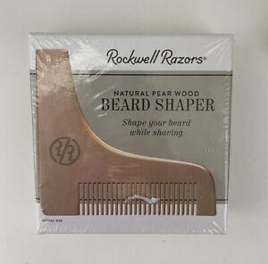 ROCKWELL RAZORS BEARD SHAPER Natural Pear Wood Multi Purpose Tool Combo Comb