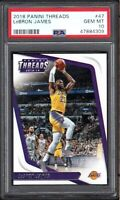 2018 Panini Threads #47 LeBRON JAMES Los Angeles Lakers PSA 10 GEM MINT