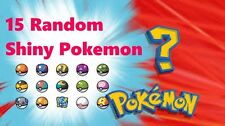 15 random pack shiny pokemon for pokemon x y oras or sun and moon