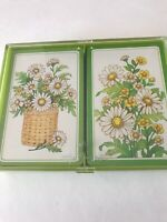 "Hallmark Vintage Bridge Playing Cards Vintage  ""Daisies Daisies"""