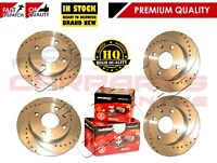 FOR SEAT IBIZA 1.8 TURBO FR DRILLED & GROOVED FRONT REAR BRAKE DISCS PADS