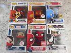 Marvel Funko Pop Lot Of 6 - Spider-Man, Silk, Venom, Electro - Damaged Boxes