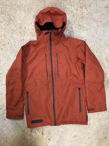 Men's Burton Full Metal Dryride Burnt Orange Snowboard Jacket Size Small Used
