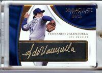Fernando Valenzuela 2017 Immaculate Tweed Weave Auto Dodgers #FV 04/15