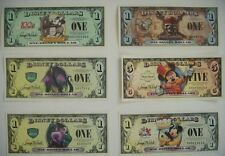 Disney Dollar Collection A Set of 6 Mickey Mouse/ Pirates of the Caribbean..more