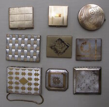 Compacts, 9 assorted vintage