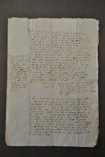 Manoscritto Atto Notarile Scrittura Corsiva 1500