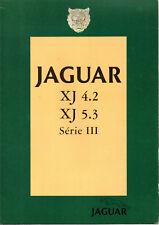 Depliant brochure catalogue JAGUAR XJ 4.2 5.3 serie III FRANCAIS