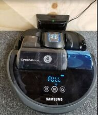 Samsung R9040W PowerBot Cyclone Force Robotic Vacuum Graphite Blue #PB2119 Used