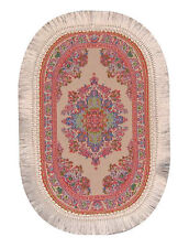 1 12 Scale Oval Woven Pink Turkish Rug Dolls House Carpet Mat Accessory 648p