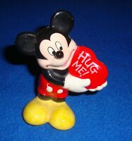 Vintage Disney Mickey Mouse with Heart Ceramic Figure